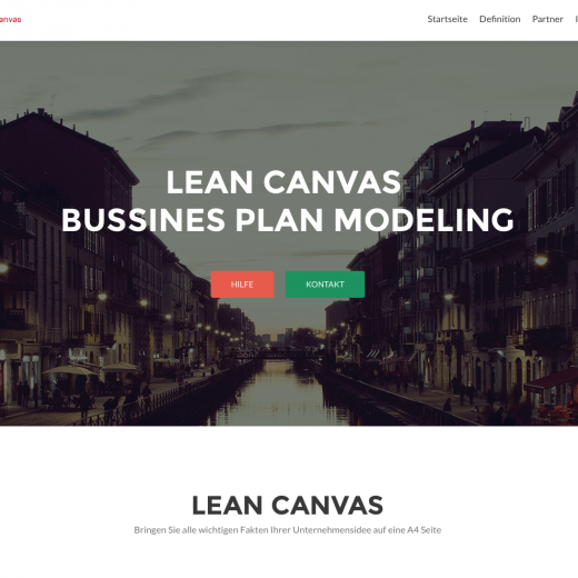 Lean-Canvas.de ab heute Online
