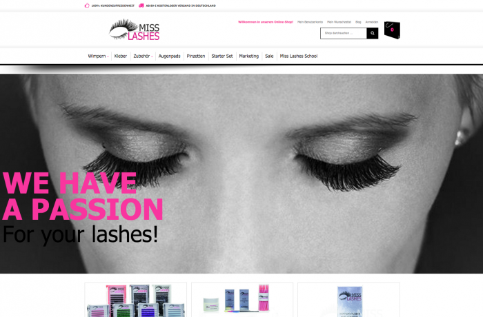 Miss Lashes – Magento